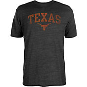 University of Texas Authentic Apparel Men's Texas Longhorns Heathered Black Worn Arch T-Shirt