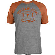 University of Texas Authentic Apparel Men's Texas Longhorns Grey/Burnt Orange Franklin Football T-Shirt