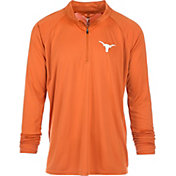 University of Texas Authentic Apparel Men's Texas Longhorns Burnt Orange River Quarter-Zip Shirt