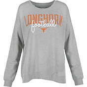 University of Texas Authentic Apparel Women's Texas Longhorns Grey Helen Football Long Sleeve Shirt
