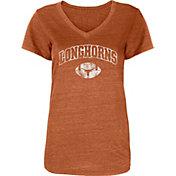 University of Texas Authentic Apparel Women's Texas Longhorns Burnt Orange Monroe Football T-Shirt