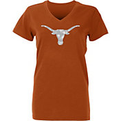 University of Texas Authentic Apparel Women's Texas Longhorns Burnt Orange Galaxy V-Neck T-Shirt