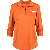 University of Texas Authentic Apparel Women's Texas Longhorns Burnt Orange Rockland Quarter-Zip Shirt