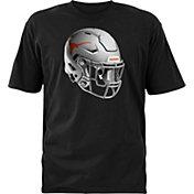 University of Texas Authentic Apparel Youth Texas Longhorns Black Stealth Helmet Football T-Shirt