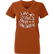 University of Texas Authentic Apparel Youth Girls' Texas Longhorns Burnt Orange Knoll T-Shirt