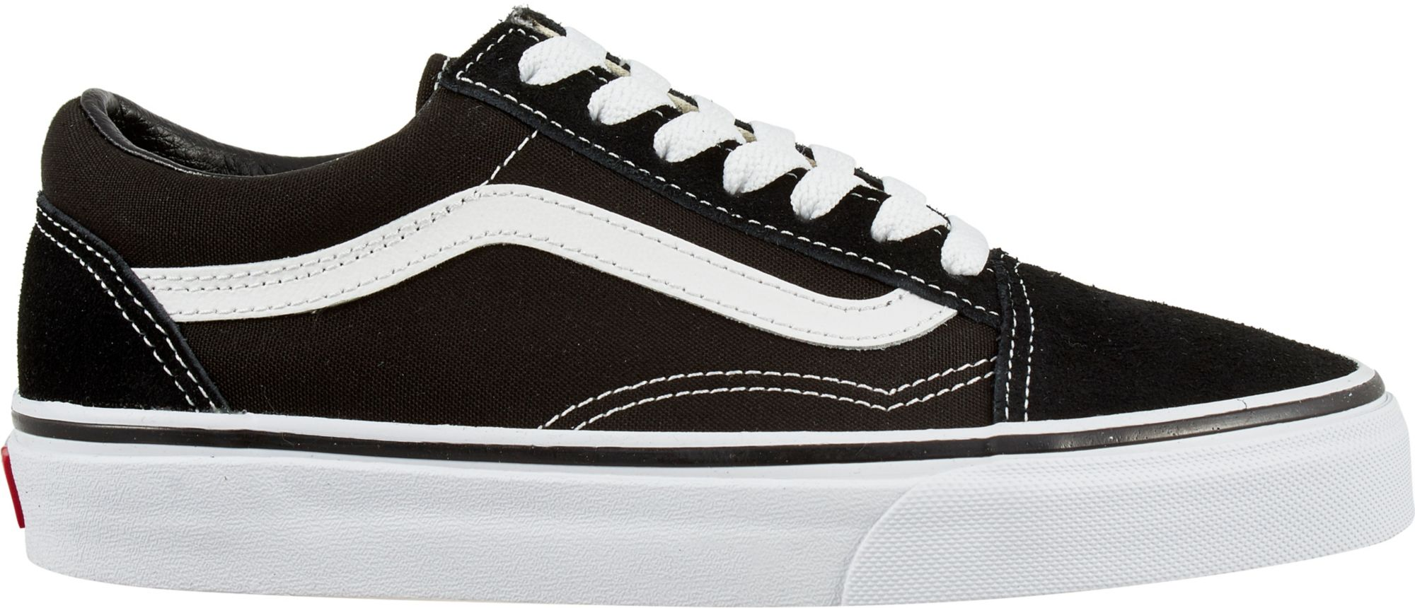 old skool mens black and white vans
