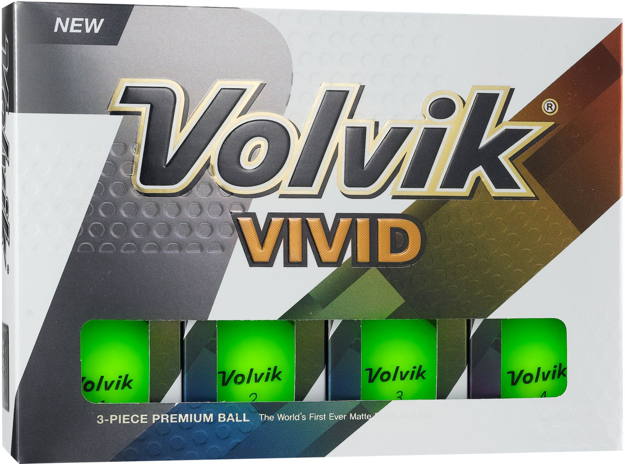 Volvik 2018 Vivid Matte Green Golf Balls by Volvik