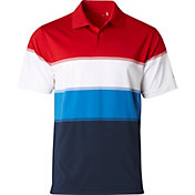 Walter Hagen Men's USA Engineered Stripe Golf Polo
