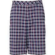 Walter Hagen Men's USA Plaid Golf Shorts