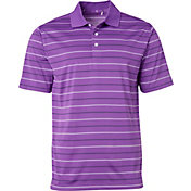 Walter Hagen Men's Essentials Railroad Stripe Golf Polo
