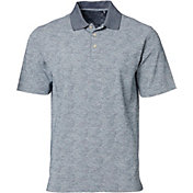 Walter Hagen Men's Standard Paisley Slub Oxford Golf Polo