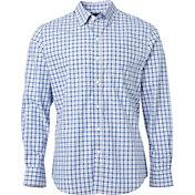 Walter Hagen Men's Tattersall Long Sleeve Dress Golf Shirt