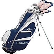 Wilson Women's Profile XD 14-Piece Complete Set w/ Stand Bag – Navy/White