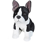Wild Republic Sitting Boston Terrier Dog Stuffed Animal