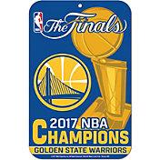 """WinCraft 2017 NBA Finals Champions Golden State Warriors 11"""" x 17"""" Sign"""