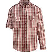 Woolrich Men's Convertible Button Down Long Sleeve Shirt