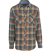 Woolrich Men's Miners Wash Plaid Flannel Long Sleeve Shirt