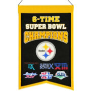 Winning Streak Pittsburgh Steelers 6 Time Super Bowl Champions Banner