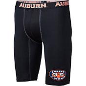 Fandemics Men's Auburn Tigers BaseFit Black Compression Shorts