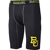 Fandemics Men's Baylor Bears BaseFit Black Compression Shorts