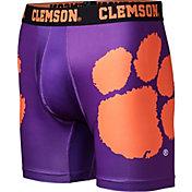 Fandemics Men's Clemson Tigers Regalia Boxer Brief Style Base Layer