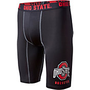 Fandemics Men's Ohio State Buckeyes BaseFit Black Compression Shorts