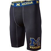 Fandemics Men's Michigan Wolverines BaseFit Black Compression Shorts