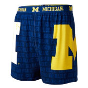 Fandemics Men's Michigan Wolverines Blue Center Seam Base Layer Boxers