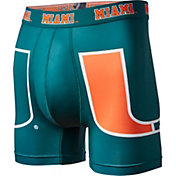 Fandemics Men's Miami Hurricanes Green Boxer Brief Style Base Layer