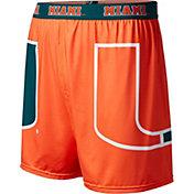 Fandemics Men's Miami Hurricanes Orange Center Seam Base Layer Boxers