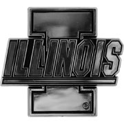 Team Promark Illinois Fighting Illini Chrome Auto Emblem