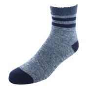 Yaktrax Men's Cozy Stripe Cabin Socks