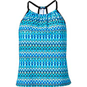 Aqua Tech Women's Tribal Chevron High Neck Tankini Top