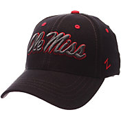Zephyr Men's Ole Miss Rebels Black Element ZClassic Flexfit Hat