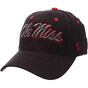 Zephyr Men's Ole Miss Rebels Black Element ZClassic Flexfit Hat