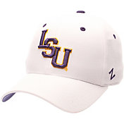 Zephyr Men's LSU Tigers White DH Fitted Hat