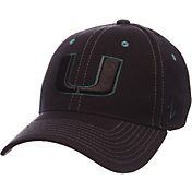 Zephyr Men's Miami Hurricanes Black Element ZClassic Flexfit Hat