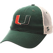 Zephyr Men's Miami Hurricanes Green/White University Adjustable Hat