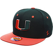 Zephyr Youth Miami Hurricanes Green/Orange Z11 Adjustable Hat