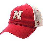 Zephyr Men's Nebraska Cornhuskers Scarlet/White University Adjustable Hat