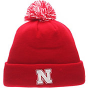 Zephyr Men's Nebraska Cornhuskers Scarlet Pom Knit Beanie