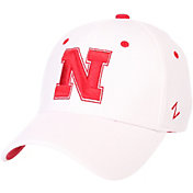 Zephyr Men's Nebraska Cornhuskers White ZH ZClassic Flexfit Hat