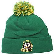 Zephyr Men's Oregon Ducks Green Pom Knit Beanie