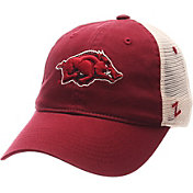 Zephyr Men's Arkansas Razorbacks Cardinal/White University Adjustable Hat