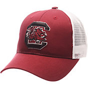 Zephyr Men's South Carolina Gamecocks Garnet/White Big Rig Adjustable Hat