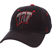 Zephyr Men's Wisconsin Badgers Black Element ZClassic Flexfit Hat