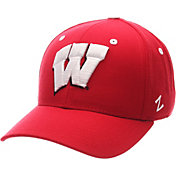 Zephyr Men's Wisconsin Badgers Red DH Fitted Hat