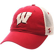 Zephyr Men's Wisconsin Badgers Red/White University Adjustable Hat