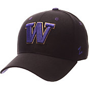 Zephyr Men's Washington Huskies Black DH Fitted Hat
