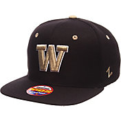 Zephyr Youth Washington Huskies Black Z11 Adjustable Hat